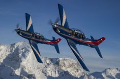 Indian Air Force Pilatus PC-7 MKII trainers.