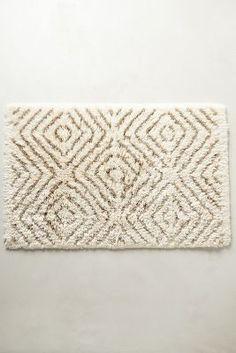 Diamond Stripe Bathmat | Anthropologie