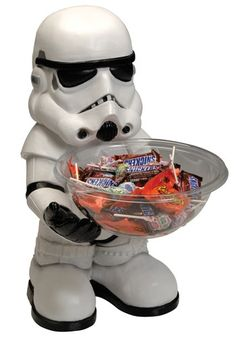 Have the Empire's best keep your treats safe with this Star Wars Storm Trooper Candy Bowl Holder!