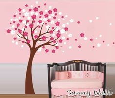 Plum Blossom Vinyl wall sticker wall decal tree by SunnyWall, $43.00