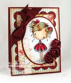 Cupcake Cutie; Finishing Flourishes; Blueprints 1 Die-namics; Layered Rose Die-namics - Michele Boyer