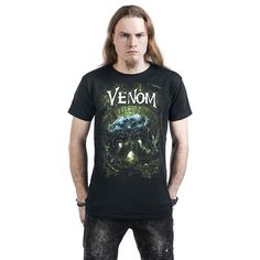 "Classica T-Shirt uomo nera ""Venom - Cover"" di #Spiderman."