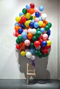 """Up"" idea - cute for any birthday - would be nice to get pictures with each guest in the chair :)"