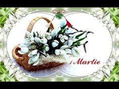 1 Martie (March 1st) - YouTube 8 Martie, French Flowers, March 1st, Morning Pictures, Grapevine Wreath, Spring Time, Beautiful Pictures, Happy Birthday, Make It Yourself