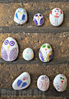 Paint the rocks white and then let them color with Sharpies.