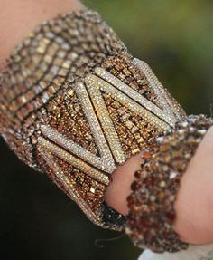 Brown diamond and white bracelet by Lorraine Schwartz