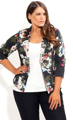 Plus Size Rosey Jacket - City Chic - City Chic