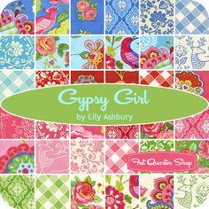 On my Christmas list!!!! - Gypsy Girl Charm Pack Lily Ashbury for Moda Fabrics - Fat Quarter Shop