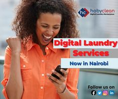 Digital Laundry services are now available in Nairobi with #HobyClean via web and mobile. Log onto www.hobyclean.com or download our mobile app on Play Store. #LaundryServices #Laundry #DigitalLaundryServices #Laundrynearme #24hourlaundromart #OnlineLaundryService Online Laundry, Laundry Service, Nairobi, Mobile App, Play, Digital, Store, Laundry, Larger