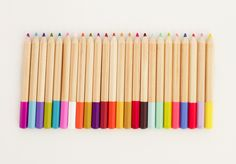 colored pencils from the new Kid Made Modern line at Target, via angela hardison.