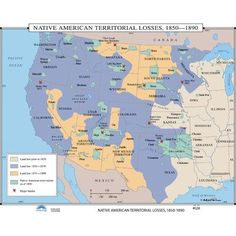This map shows the Native American reservations today As you can