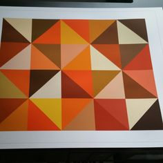 Happy Halloween! Just shipped out this shades of orange art perfect for decorating this time of year.