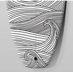 Resultado de imagem para black and white surfboard designs