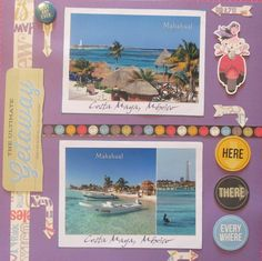 I used CTMH Wanderful with complement embellishments