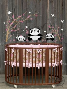 Kid Vinyl Wall Sticker Decal Art Lovely Pandas by designedDESIGNER, $88.00