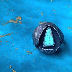 arreisdesignssierra eilers metalsmith turquoise instasmithy turquoiseoverdiamonds feathers turquoiseaddict handmade sterlingsilver riojeweler rings silversmith instasmith ring silver vtartist