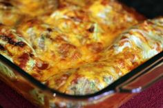 Cabbage enchiladas! Use cabbage instead of tortillas. Good way to use some of our cabbage :)