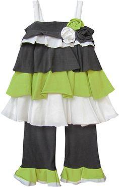 Isobella & Chloe Apple Green Green Sleeveless 2-pc Pant Set