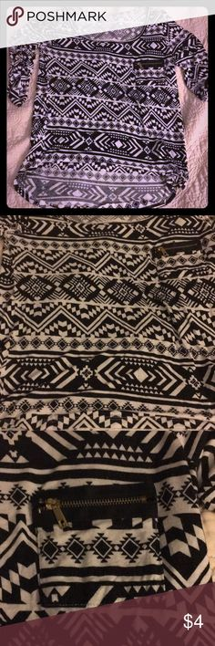 Aztec top Charlotte Russe Aztec high low top. Great condition Charlotte Russe Tops