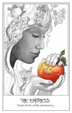 The Empress from The Pen Tarot. Another gorgeous Empress card. I have been really drawn to The Empress in recent times, especially since becoming a Mother. Makes sense, huh?! http://www.stephsweet.com