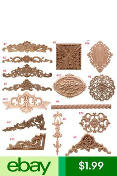 Other Timber & Composites Home & Garden Diy Projects Love, Wood Appliques, Victorian Furniture, Wall Anchors, Dining Room Design, Door Design, Frames On Wall, Shabby Chic, Bedroom Decor