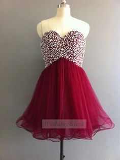 Mini Homecoming Dress Prom Dress Wine Red Sexy by WeddingBless, $98.00