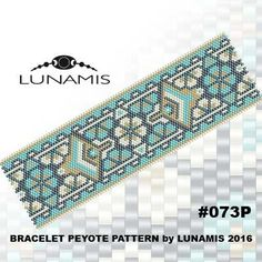 Peyote bracelet pattern peyote pattern por LunamisBeadsPatterns                                                                                                                                                     More