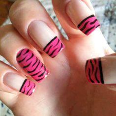 Unhas Decoradas BR Mais Francesinha com Zebra