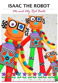 Isaac the Robot PDF Soft Toy Pattern par TheRedBootQuiltCo sur Etsy