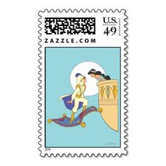 Aladdin and Jasmine Stamp