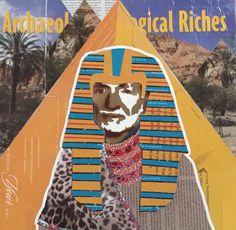 Pharaoh Willie — 14 x 14.25in — Mixed Media on Board  — $150 + $12 shipping — CONTACT: blacksheepranchatx@gmail.com