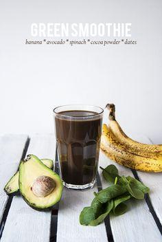 banana avocado spinach cocoa smoothie