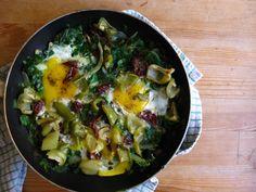 shakshuka, eggs, swiss chard, breakfast, egg recipe, israeli breakfast