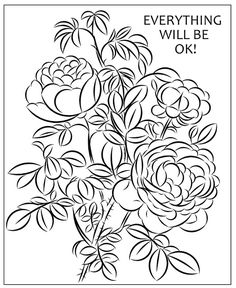Nicole's Free Coloring Pages: March 2020 Flower Coloring Pages, Free Coloring Pages, Winter Princess, Everything Will Be Ok, Mysterious Girl, Modern Princess, Yellow Leaves, Santa Letter, Red Berries