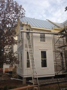 roof going on, south elevation