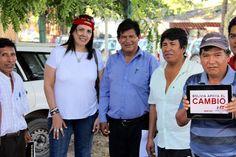 Con los hermanos originarios bolivianos.
