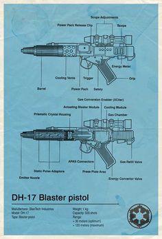 Star Wars DH-17 Blaster Pistol Diagram. I always wondered how those work. - Rgrips.com