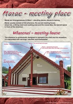 Two bilingual charts in this set - one chart shows a photo of a whare nui with labels in Maori and Engligh. The second chart lists the names of the key parts of a marae welcome Maori Songs, School Resources, Teaching Resources, Maori Designs, Aboriginal Culture, Maori Art, Kiwiana, Early Childhood Education, Social Science
