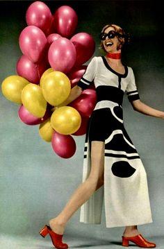 Dress Louis Feraud, photo Roland Bianchini, L'Officiel 1971