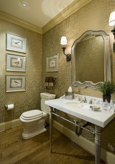 Bathroom Vintage Bird Print Design, Pictures, Remodel, Decor and Ideas - page 8