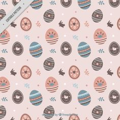 Easter eggs pattern Free Vector