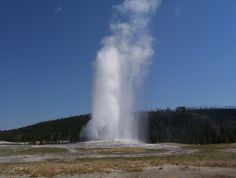 Old Faithful in Yellowstone National Park, WY