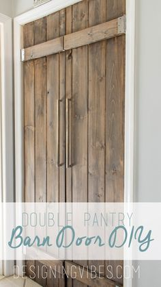 DIY barn door can be your best option when considering cheap materials for setting up a sliding barn door. DIY barn door requires a DIY barn door hardware and a Barn Door Pantry, Diy Barn Door, Porta Colonial, Cheap Barn Doors, Diy Home Decor For Apartments, The Doors, Sliding Doors, Door Hinges, Bifold Barn Doors