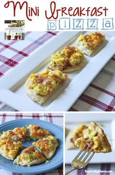 Mini Breakfast Pizza - unbelievably easy and delicious!