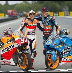 Honda brothers! Marc and Alex Marquez.