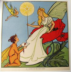 1930's British Fairy Queen Children's Vintage Poster by Cora Paterson