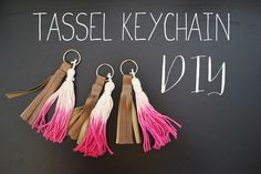 Ombre Tassel Keychain DIY - Twinkle and Toast