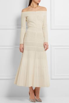 Barbara Casasola | Off-the-shoulder mesh-paneled stretch-jersey dress | NET-A-PORTER.COM