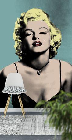 Marilyn Monroe Warhol Wall Mural - Wallpaper