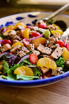 Sesame Chicken Salad. As gorgeous as it is delicious!